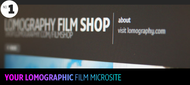your lomography film microsite