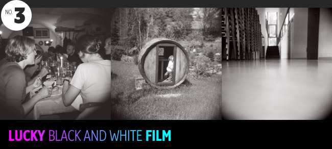 lucky black and white film