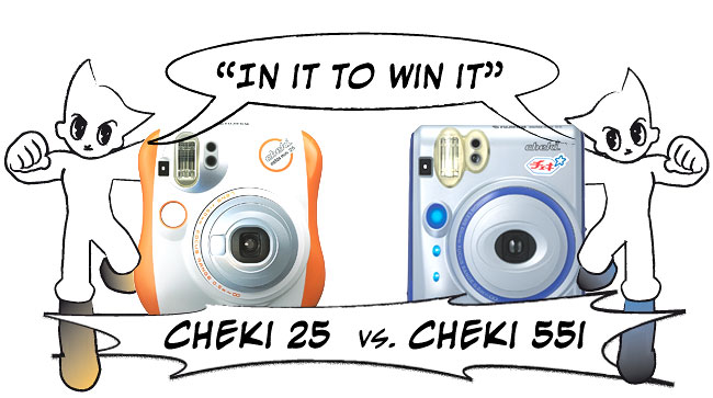 Cheki 55 vs. Cheki 25